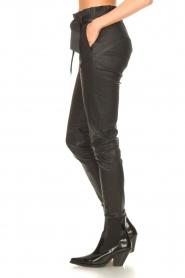 STUDIO AR |  Lamb leather paperbag pants Lotte | black  | Picture 6