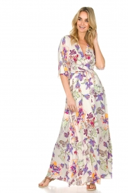 Hale Bob |  Maxi dress with floral print Lize | white  | Picture 3