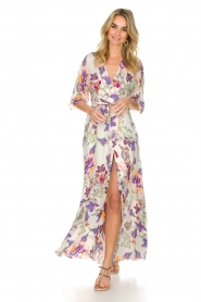 Hale Bob |  Maxi dress with floral print Lize | white  | Picture 2