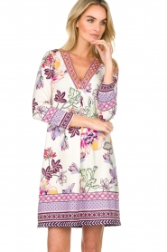 Hale Bob |  Floral print dress Harper | white  | Picture 4