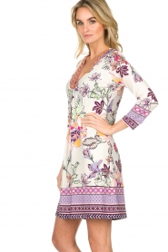 Hale Bob |  Floral print dress Harper | white  | Picture 5