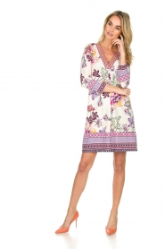 Hale Bob |  Floral print dress Harper | white  | Picture 3