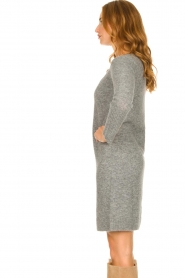 Knit-ted |  Knitted dress Nancy | grey  | Picture 5
