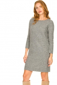 Knit-ted |  Knitted dress Nancy | grey  | Picture 4