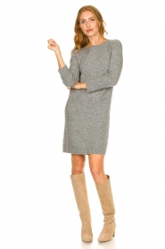 Knit-ted |  Knitted dress Nancy | grey  | Picture 3