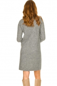 Knit-ted |  Knitted dress Nancy | grey  | Picture 6