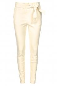 STUDIO AR |  Lamb leather paperbag pants Lotte | natural  | Picture 1