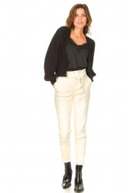 STUDIO AR |  Lamb leather paperbag pants Lotte | natural  | Picture 3