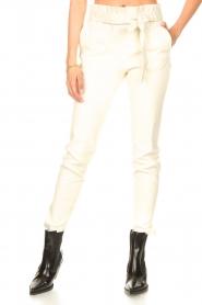 STUDIO AR |  Lamb leather paperbag pants Lotte | natural  | Picture 4