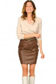 Knit-ted |  Merino woolen sweater Rachel | beige  | Picture 2