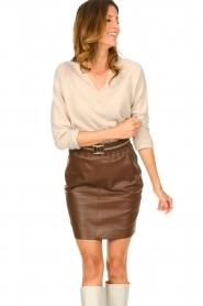 Knit-ted |  Merino woolen sweater Rachel | beige  | Picture 4