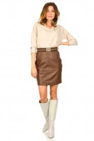 Knit-ted |  Merino woolen sweater Rachel | beige  | Picture 3