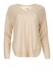 Knit-ted |  Merino woolen sweater Rachel | beige  | Picture 1