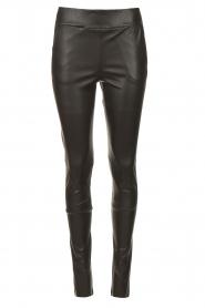 STUDIO AR |  Lamb leather stretch legging Eden | black  | Picture 1