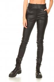 STUDIO AR |  Lamb leather stretch legging Eden | black  | Picture 5