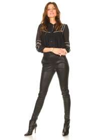 STUDIO AR |  Lamb leather stretch legging Eden | black  | Picture 2