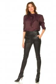 STUDIO AR |  Lamb leather stretch legging Eden | black  | Picture 3