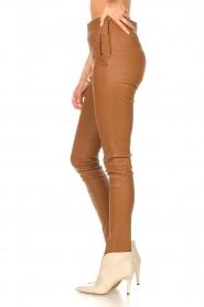 STUDIO AR |  Lamb leather stretch legging Eden | camel  | Picture 5