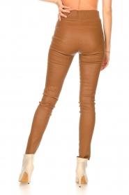 STUDIO AR |  Lamb leather stretch legging Eden | camel  | Picture 6