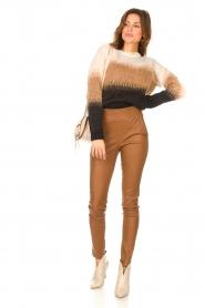 STUDIO AR |  Lamb leather stretch legging Eden | camel  | Picture 3