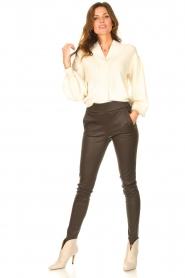 STUDIO AR BY ARMA    Lamb leather stretch legging Eden   dark brown    Picture 4