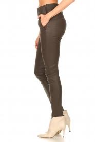 STUDIO AR |  Lamb leather stretch legging Eden | dark brown  | Picture 5