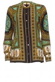 Hale Bob |  Silk blouse Ruby | print  | Picture 1