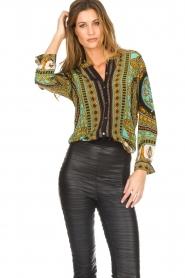 Hale Bob |  Silk blouse Ruby | print  | Picture 2