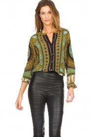 Hale Bob |  Silk blouse Ruby | print  | Picture 4