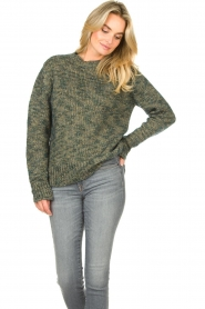 Knit-ted |  Sweater with lurex Zurich | blue  | Picture 4