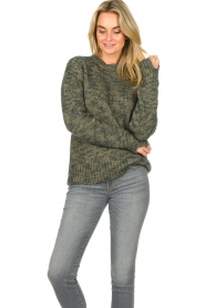 Knit-ted |  Sweater with lurex Zurich | blue  | Picture 2