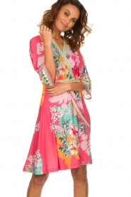 Hale Bob |  Wrap dress Eliza | pink  | Picture 2