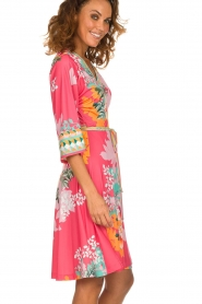 Hale Bob |  Wrap dress Eliza | pink  | Picture 4