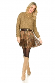 Knit-ted |  Sweater with lurex Zurich | gold  | Picture 3