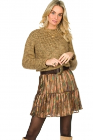 Knit-ted |  Sweater with lurex Zurich | gold  | Picture 5