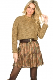 Knit-ted |  Sweater with lurex Zurich | gold  | Picture 2