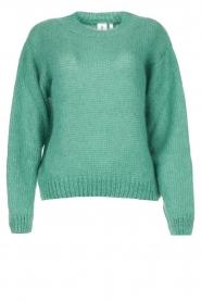 Knit-ted | Gebreide trui Stephanie | groen  | Afbeelding 1
