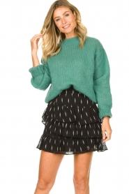 Knit-ted | Gebreide trui Stephanie | groen  | Afbeelding 2