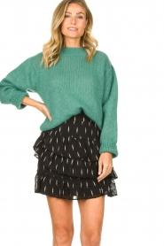 Knit-ted | Gebreide trui Stephanie | groen  | Afbeelding 4