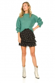 Knit-ted | Knitted sweater Stephanie | green  | Picture 3