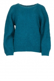 Knit-ted |  Knitted sweater Linda | blue  | Picture 1