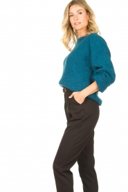 Knit-ted |  Knitted sweater Linda | blue  | Picture 6