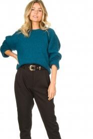 Knit-ted |  Knitted sweater Linda | blue  | Picture 2