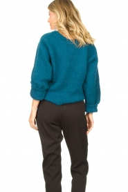 Knit-ted |  Knitted sweater Linda | blue  | Picture 7