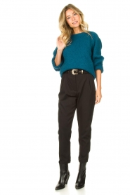 Knit-ted |  Knitted sweater Linda | blue  | Picture 3