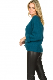 Knit-ted |  Knitted sweater Linda | blue  | Picture 5