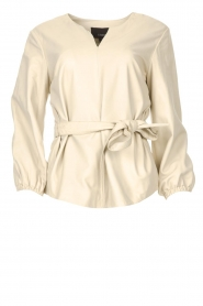 STUDIO AR BY ARMA |  Leather top Blair | natural  | Picture 1