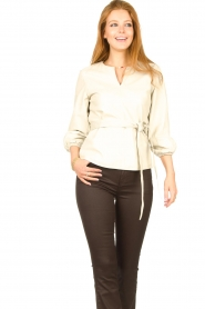 STUDIO AR    Leather top Blair   natural    Picture 2