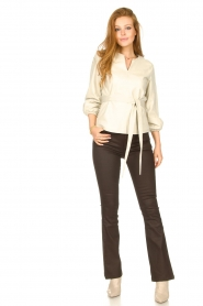 STUDIO AR    Leather top Blair   natural    Picture 3