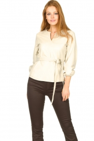 STUDIO AR    Leather top Blair   natural    Picture 5